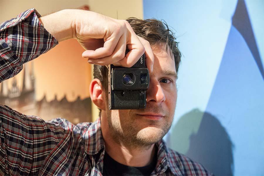 Pauli der Fotograf auf dem Hanse-Kultur-Festival